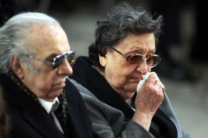 Aurelia Sordi ai funerali del fratello Alberto (Foto: Michele Ricci/LaPresse)