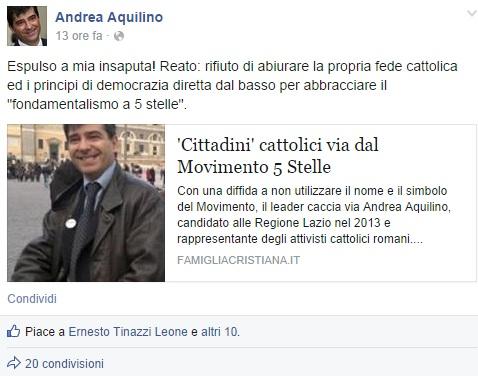 Andrea Aquilino storia di un attivista 5 stelle espulso ...