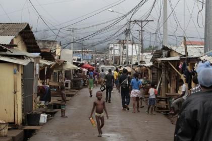 La bidonville attorno a Bata