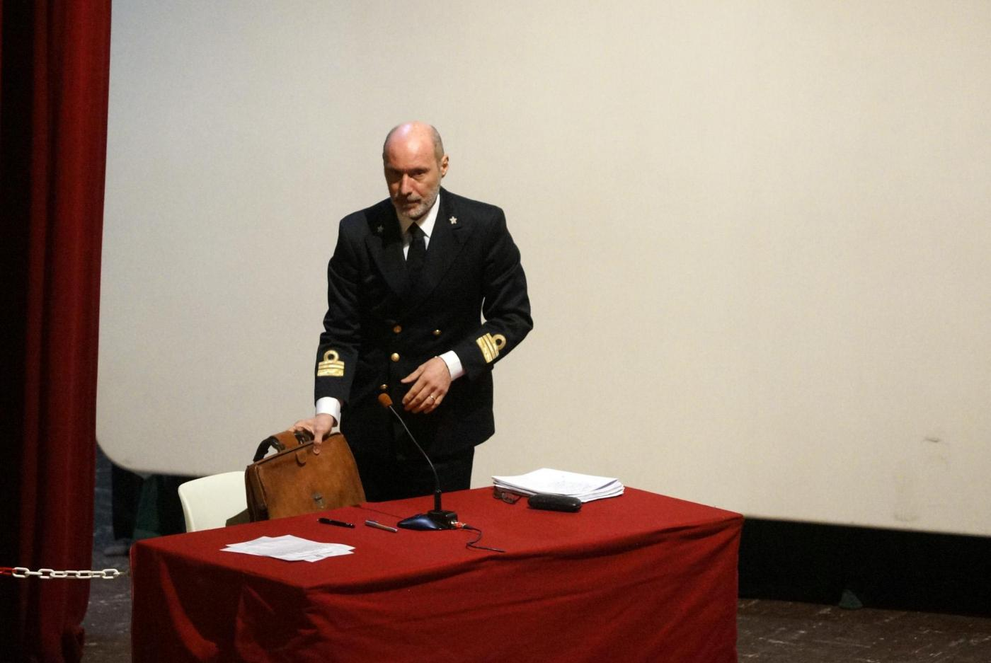 Processo Concordia, Il capitano Gregorio De Falco in aula a Grosseto