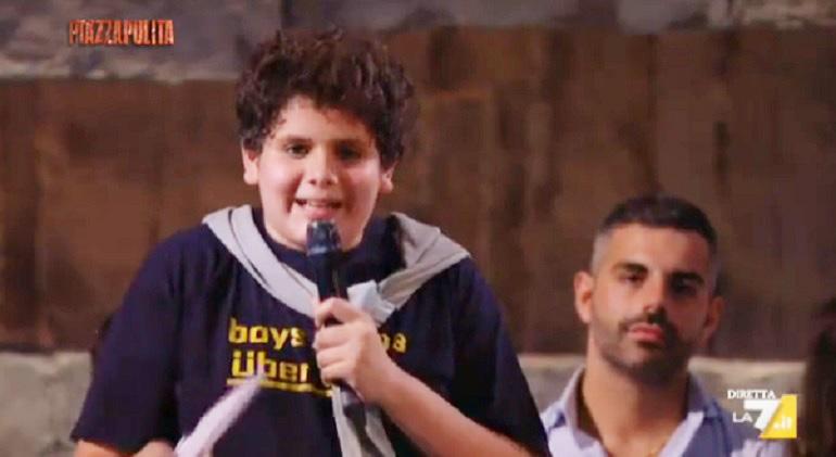 Marco Colarossi: il tredicenne grillino a Piazzapulita spacca Twitter