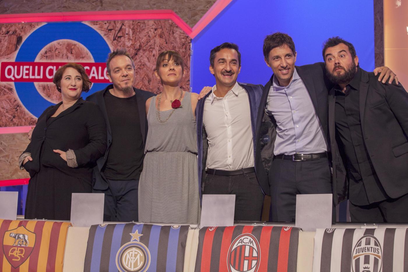 La squadra di Quelli che il Calcio (La Presse/Davide Stecconi)