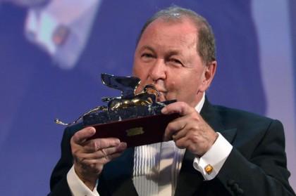 Il regista norvegese Roy Andersson - Leone d'Oro 2014 (Foto: TIZIANA FABI/AFP/Getty Images)