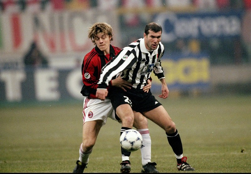 Thomas Helveg, Milan, e Zinedine Zidane, Juventus (Getty Images / Allsport UK /Allsport)