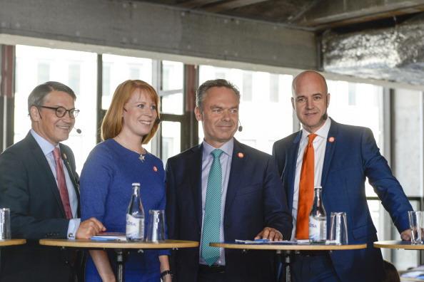 I leader dell'Alleanza per la Svezia che sostiene il governo di centrodestra di Fredrik Reinfeldt. PONTUS LUNDAHL/AFP/Getty Images