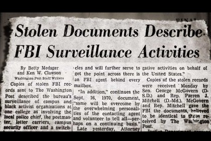 La vera storia storia del gruppo di attivisti che rovinò Edgar Hoover (beffando l'Fbi)