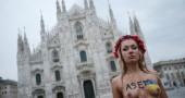 Le Femen a Milano contro Putin