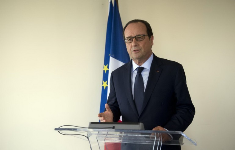 François Hollande . AP Photo/Alain Jocard, Pool