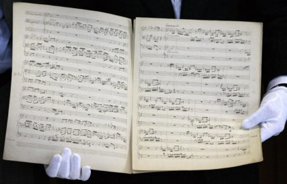 Uno spartito di J. S. Bach - Foto: JENS SCHLUETER/AFP/Getty Images