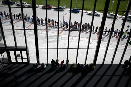 Folla ad un comizio delle Midterm. Win McNamee/Getty Images