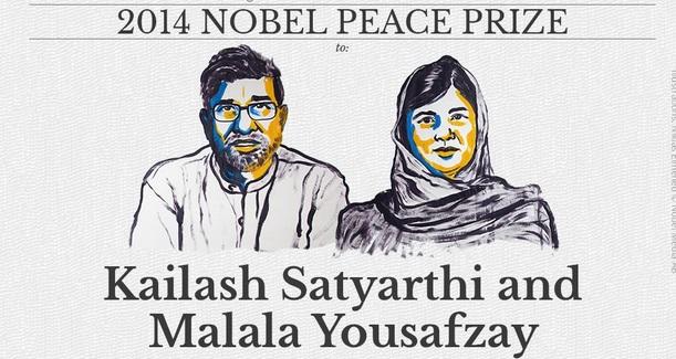 Nobel Pace 2014: vincono Malala e Kailash Satyarthi