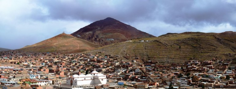 Il Cerro Rico visto da Potosì