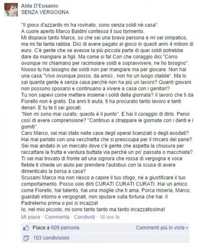 Facebook/Alda D'Eusanio