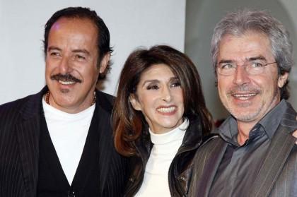 Anna Marchesini con Massimo Lopez e Tullio Solenghi nel 2008 Foto: Virginia Farneti/Lapresse)