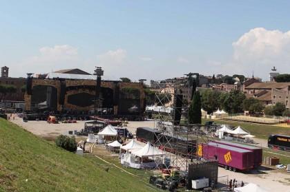Il Circo Massimo alla vigilia del concerto dei Rolling Stones - Foto: LaPresse
