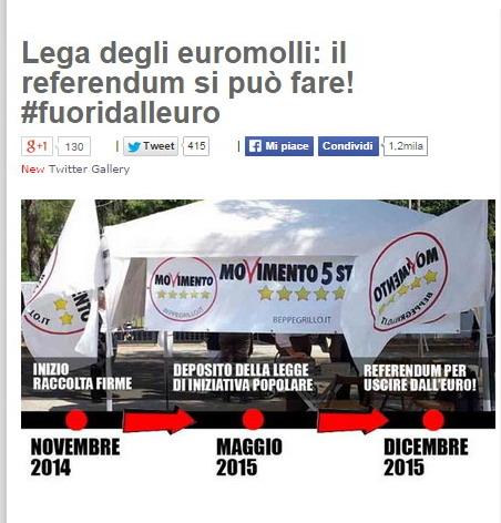 beppe grillo referendum euro