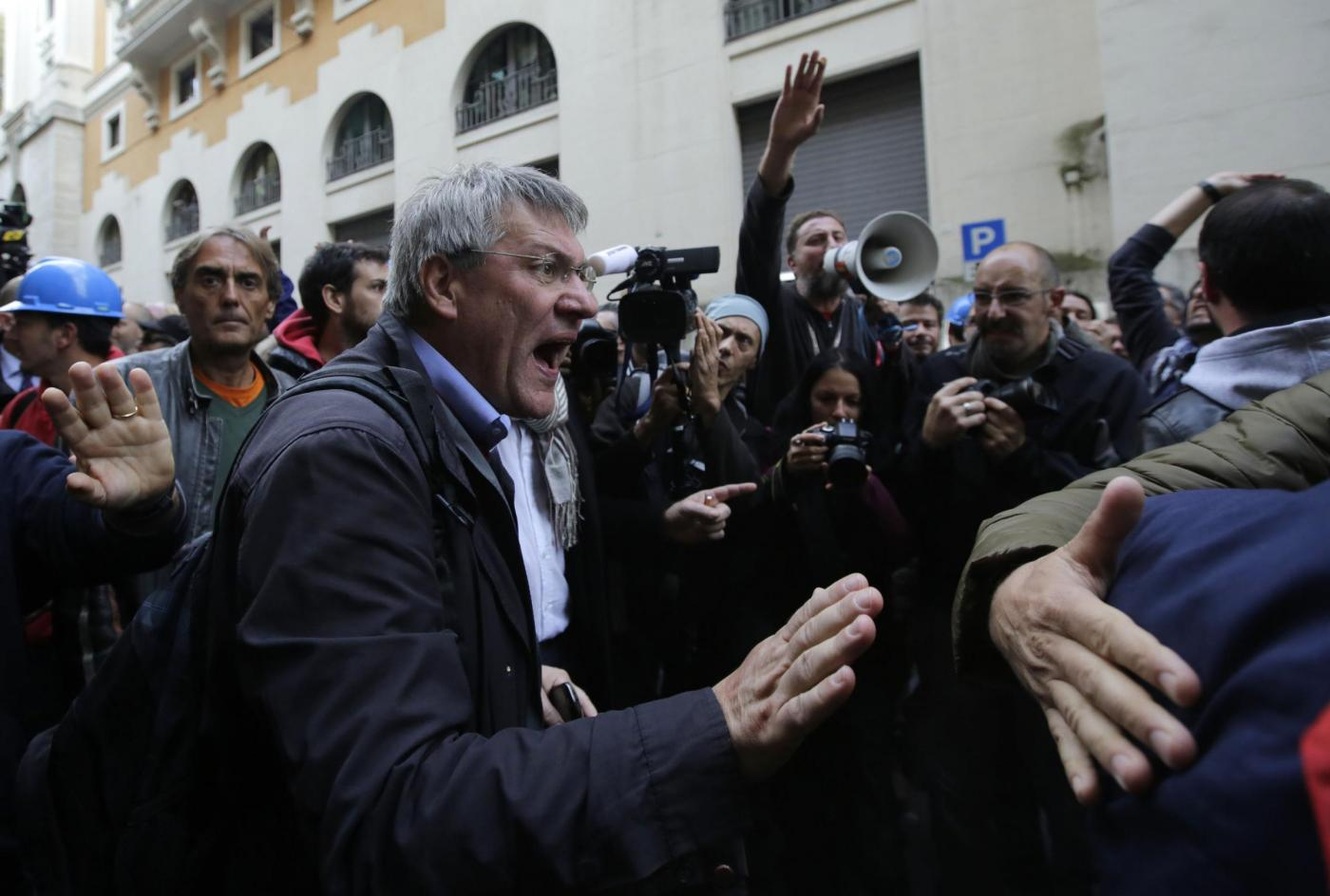 Manifestazione degli operai di Terni, Marcianise e Livorno al Ministero del Lavoro
