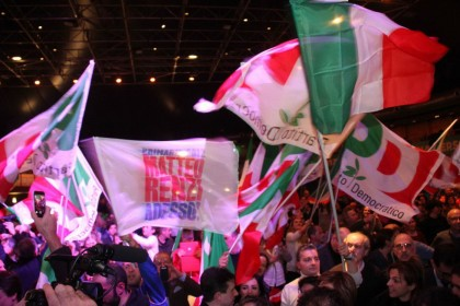 La vittoria di Matteo Renzi alle primarie.  Matteo Bovo/LaPresse