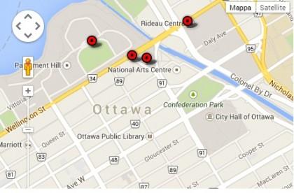 Mappa dal newsmagazine Cbc.ca
