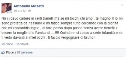 Click sull'immagine per ingrandire - Facebook/Antonella Mosetti