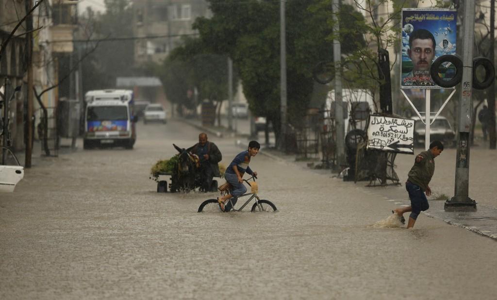 Gaza sott'acqua