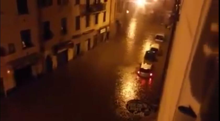 Maltempo in Liguria: allagamenti a Chiavari e nel Tigullio