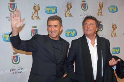 2007: Enzo Iacchetti con Ezio Greggio ai Telegatti (Foto: Elisabetta Villa/Getty Images)