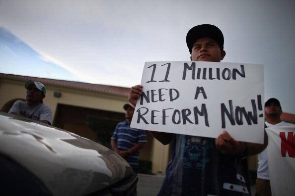 Proteste contro le politiche sull'immigrazione di Barack Obama. Joe Raedle/Getty Images