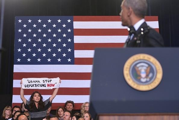 Barack Obaka contestato. MANDEL NGAN/AFP/Getty Images