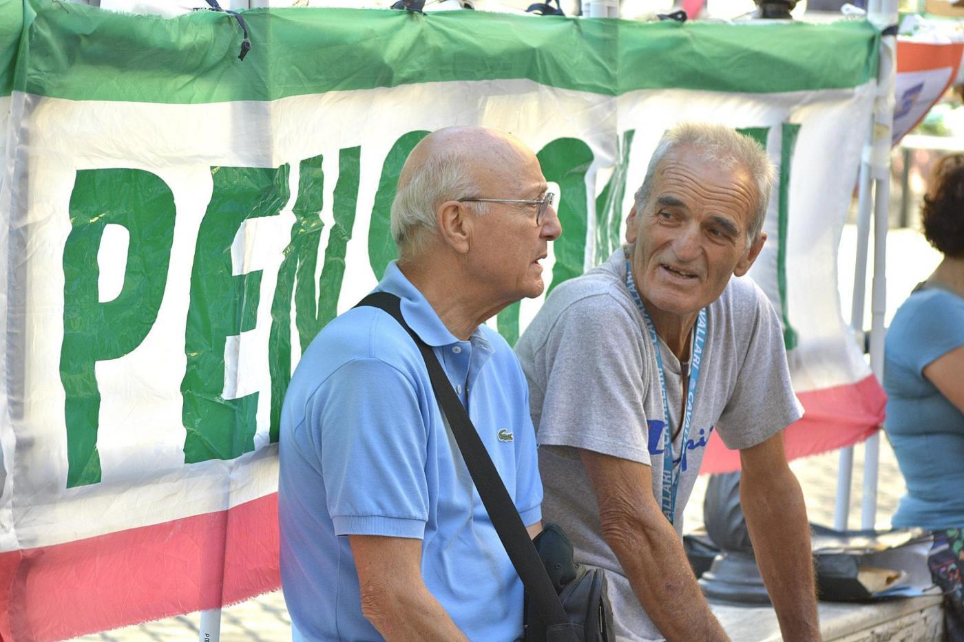 Roma, manifestazione di Ugl pensionati
