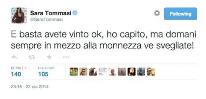 Twitter/@SaraTommasi