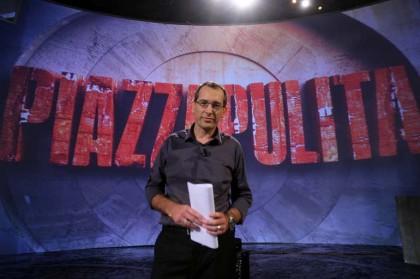 Corrado Formigli conduce una nuova puntata di Piazzpulita - La7 ore 21.10 (Foto: Roberto Monaldo/LaPresse)