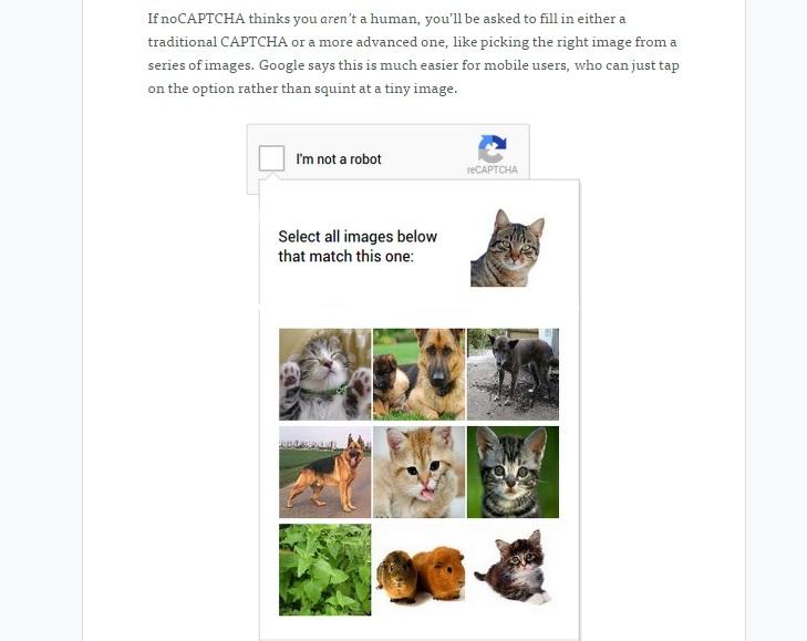 Come Google cambia il Captcha con «ReCaptcha»