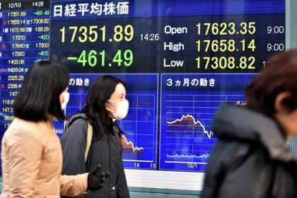 L'andamento della Borsa di Tokyo. KAZUHIRO NOGI/AFP/Getty Images