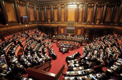 Foto Fabio Cimaglia / LaPresse. I senatori Crimi e Airola