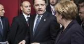 Matteo Renzi a Bruxelles per il Consiglio Europeo