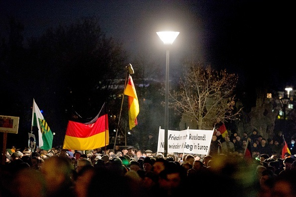 Marcia di Pegida. ARNO BURGI/AFP/Getty Images