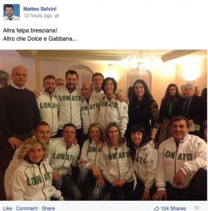 Facebook/MatteoSalvini