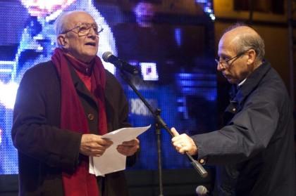 Imposimato con Salvatore Borsellino. Foto Mauro Scrobogna /LaPresse