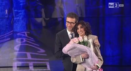 Anna Marchesini ospite di Fabio Fazio a Che tempo che fa - Novembre 2014 - Foto: Rai/Che tempo che fa