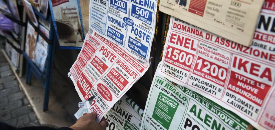 Disoccupati in cerca di lavoro in Italia