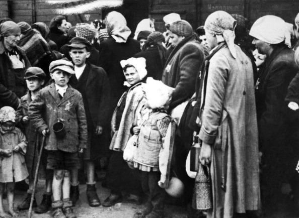 Ebrei deportati al campo di concentramento di Auschwitz