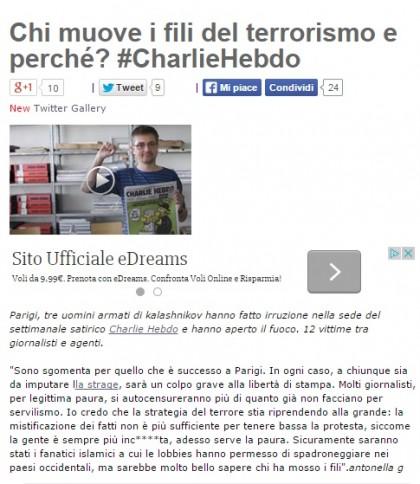 L'ultimo post sul blog di Beppe Grillo