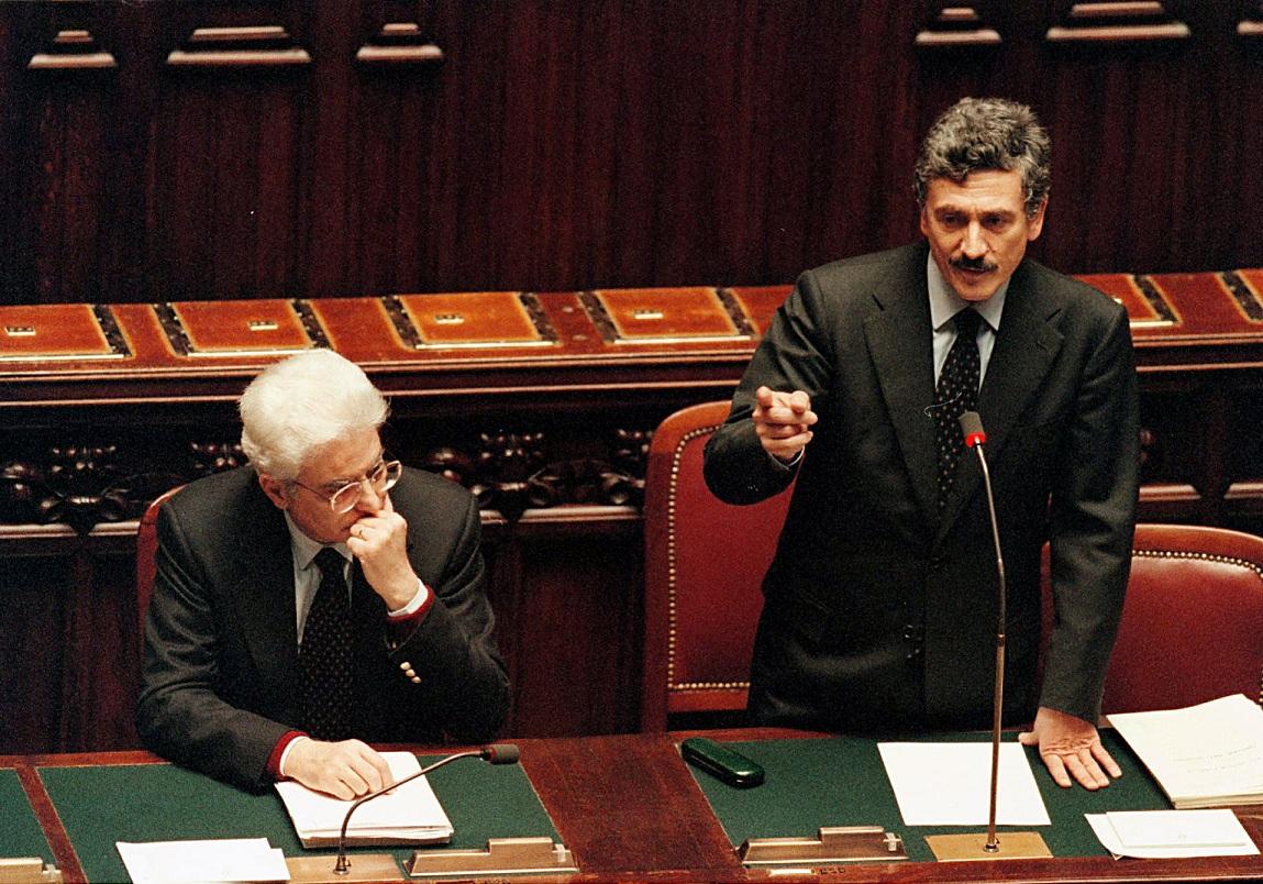 Sergio Mattarella e Massimo D'Alema. Foto di Mauro Scrobogna da archivio LaPresse