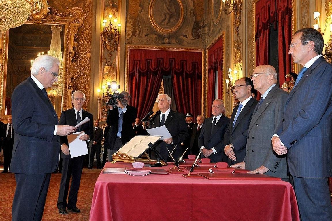Sergio Mattarella. Foto del Quirinale da archivio LaPresse