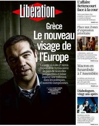 Elezionin Grecia, Alexis Tsipras nuovo volto d'Europa per Libération