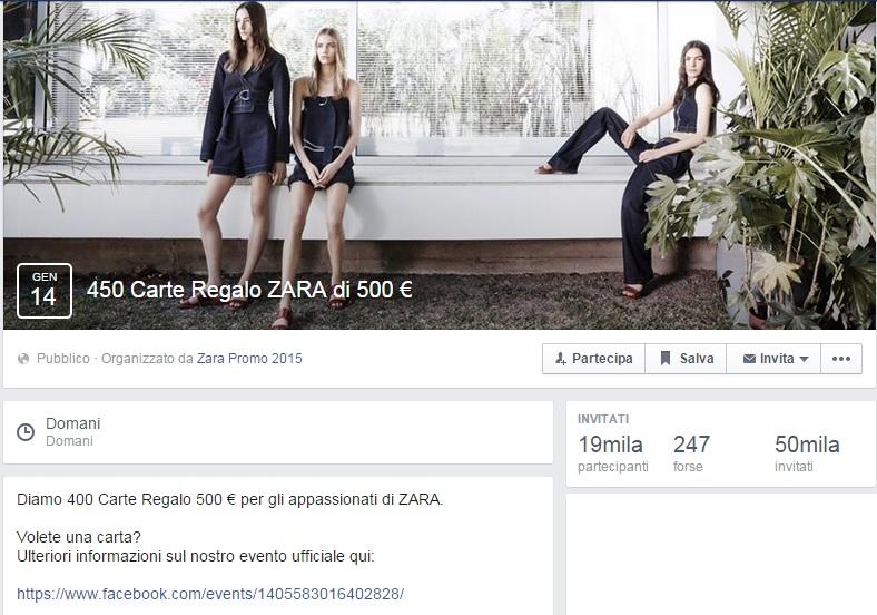 CHEQUE REGALO ZARA 500 EUROS