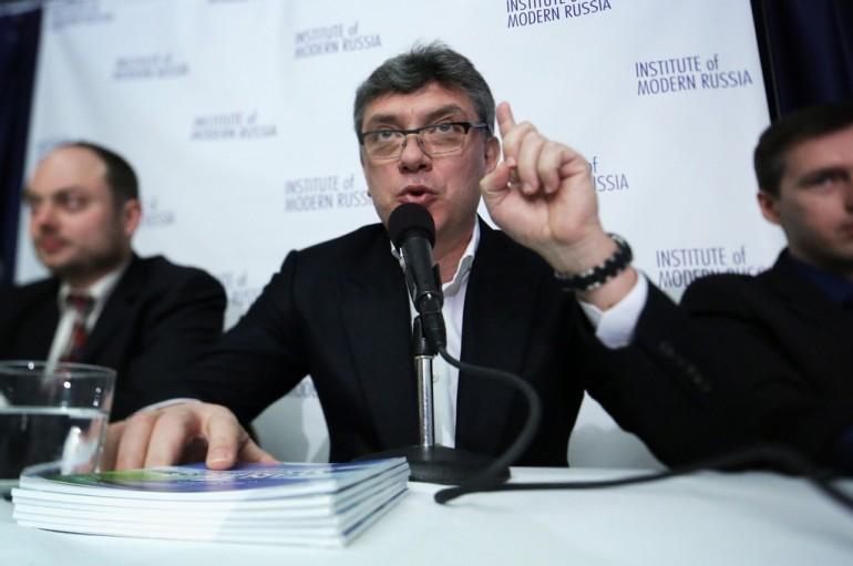 Boris Nemtsov a Washington, mentre denuncia la corruzione attorno alle olimpiadi  (Foto Alex di Wong/Getty Images)