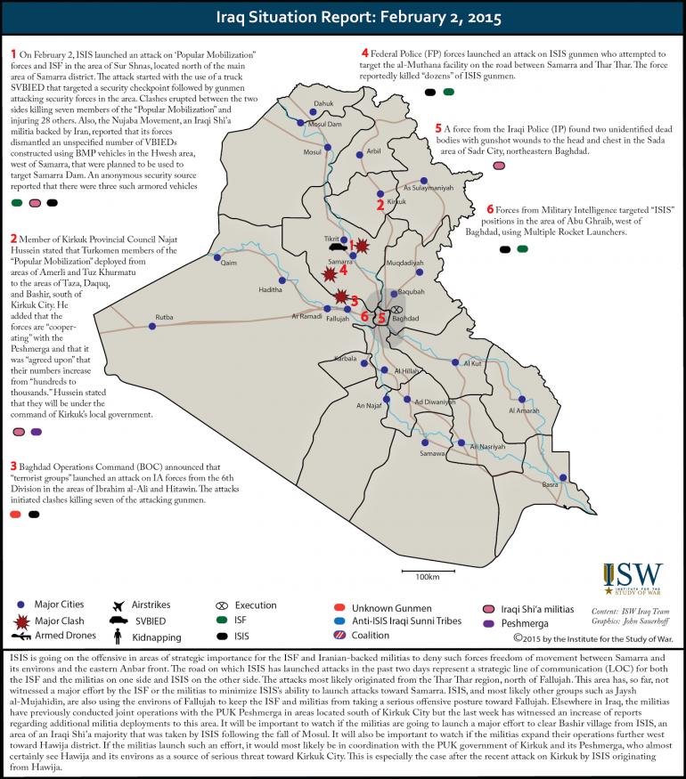 La situazione in Iraq, via Institute for the Study of War