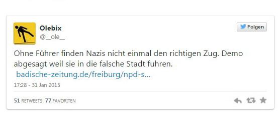 I neonazisti tedeschi della Npd derisi su Twitter